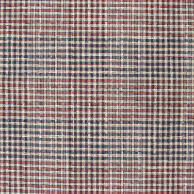 S4049 Americana Fabric: S55, CHECK, WOVEN, BLUE, RED, AMERICANA