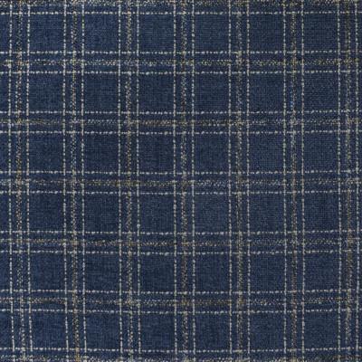 S4050 Navy Fabric: S55, PLAID, CHENILLE, BLUE, NAVY