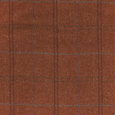 S4059 Cayenne Fabric: S55, WOOL, WOOL BLEND, MENSWEAR, PLAID, HERRINGBONE, ORANGE, CAYENNE