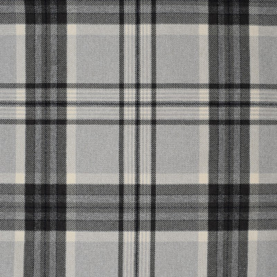 S4072 Pumice Fabric: S55, PLAID, WOVEN, GRAY, GREY, TRADITIONAL