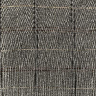 S4073 Stone Fabric: S55, WOOL, WOOL BLEND, MENSWEAR, PLAID, HERRINGBONE, GRAY, GREY, STONE