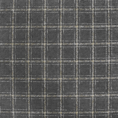 S4076 Shale Fabric: S55, PLAID, CHENILLE, GRAY, GREY, SHALE