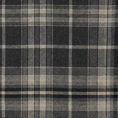 S4078 Charcoal Fabric: S55, WOOL, WOOL BLEND, MENSWEAR, PLAID, GRAY, GREY, CHARCOAL