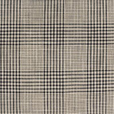 S4081 Newsprint Fabric: S55, PLAID, WOVEN, BLACK, NEWSPRINT