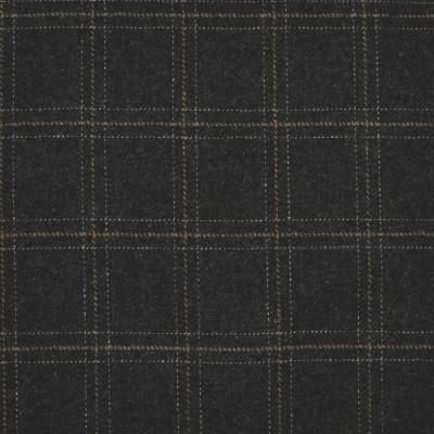 S4082 Charcoal Fabric: S55, WOOL, WOOL BLEND, MENSWEAR, PLAID, GRAY, GREY, CHARCOAL