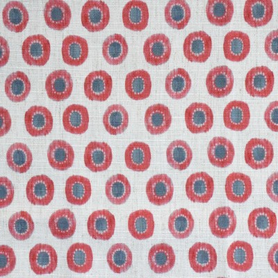 S4098 Coral Fabric: M07, ORANGE, CIRCLE, CONTEMPORARY, PRINT, CORAL