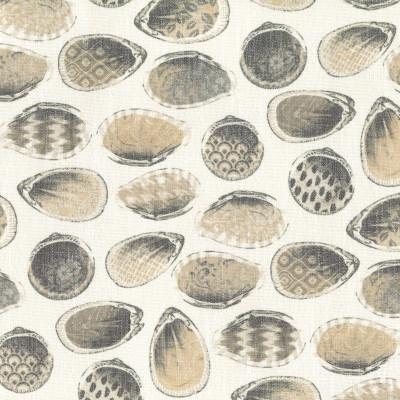 S4121 Linen Fabric: M07, BEACH, PRINT, NEUTRAL, SEASHELL, LINEN