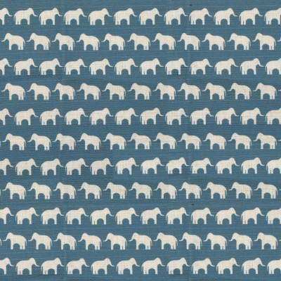 S4134 Peacock Fabric: M07, ELEPHANT, PRINT, BLUE, PEACOCK, JUVENILE