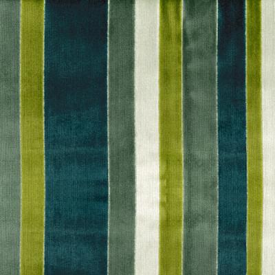 S4136 Turquoise Fabric: M07, GREEN, BLUE, VELVET, STRIPE, TURQUOISE