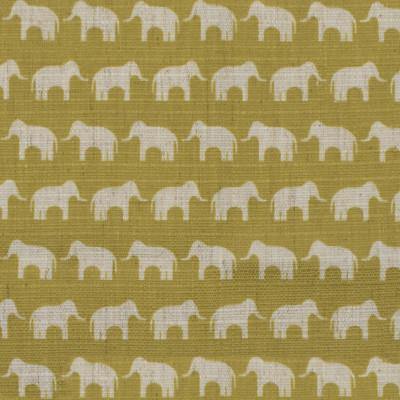 S4139 Citron Fabric: M07, CITRON, CHARTREUSE, JUVENILE, PRINT, ELEPHANT, ANIMALS