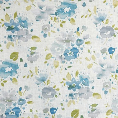 S4141 Pond Fabric: M07, FLORAL, PRINT, GREEN, BLUE, POND