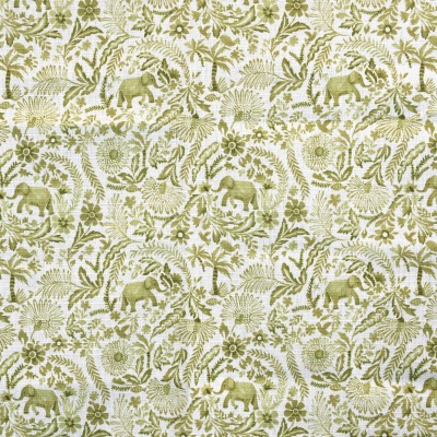 S4144 Citron Fabric: M07, GREEN, FLORAL, MONOCHROME, CITRON, PRINT, FLOWERS