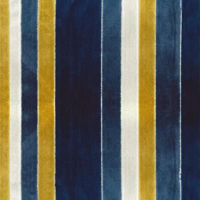 S4146 River Fabric: M07, MULTICOLORED, BLUE, CREAM, GOLD, STRIPE, VELVET, RIVER