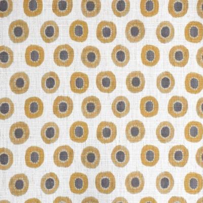 S4152 Amber Fabric: M07, CONTEMPORARY, PRINT, GOLD, YELLOW, AMBER, CIRCLES