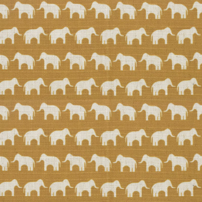 S4153 Gold Fabric: M07, ANIMAL, PRINT, GOLD, ELEPHANT, WOVEN