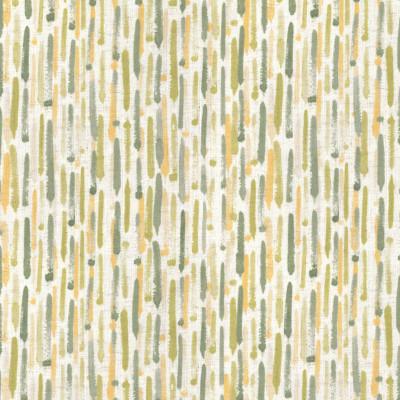 S4159 Aloe Fabric: M07, IKAT, WATERCOLOR, PRINT, GREEN, YELLOW, LINEN