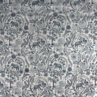S4176 Slate Fabric: M07, SLATE, GRAY, GREY, FLORAL, PRINT