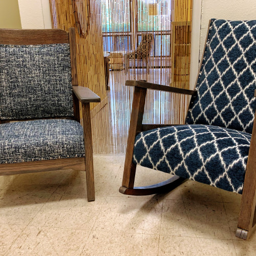 by Blue Roof Cabin (First Photo) & Good Bones Upholstery (Second Photo) in Shelton, WA (First Photo) & Iowa City, IA (Second Photo)