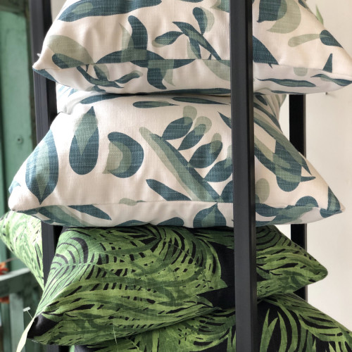 by The Porch Design (left photo) & Greenhouse Fabrics in Zeeland, MI (left photo)