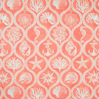 B6882 Coral Red Fabric