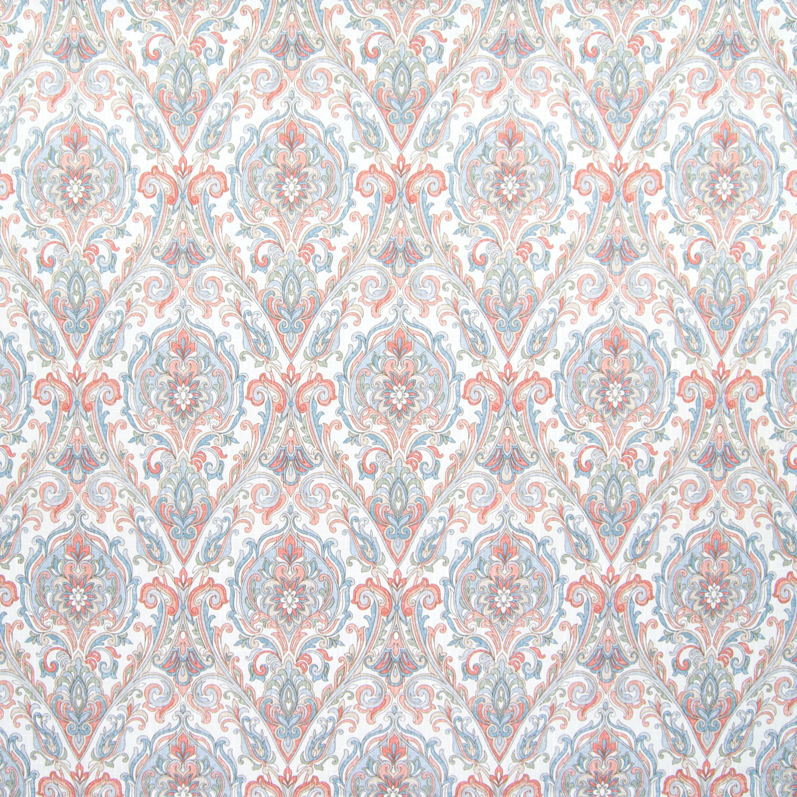 B6540 Cameo Fabric D69 D71 MEDIUM SCALE MEDALLION PRINT BLUE