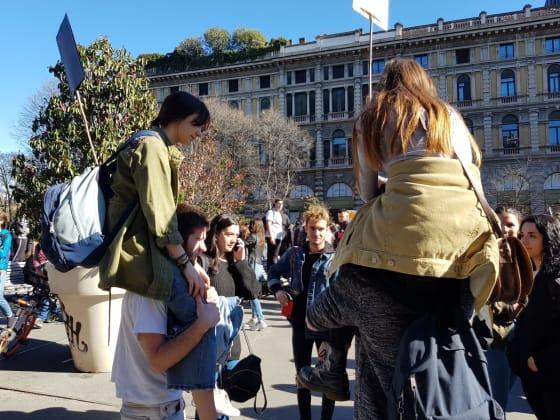 milano marcia studenti per il clima