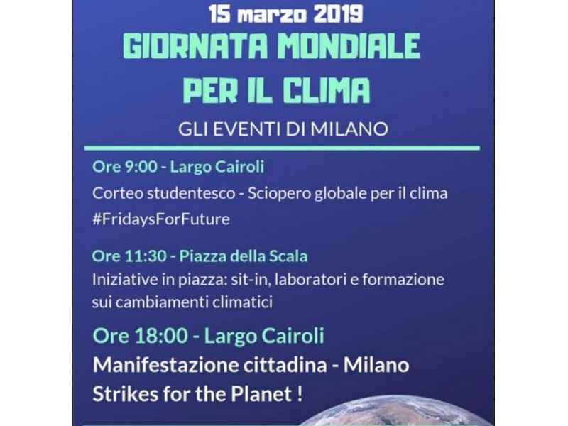#climatestrike - locandina