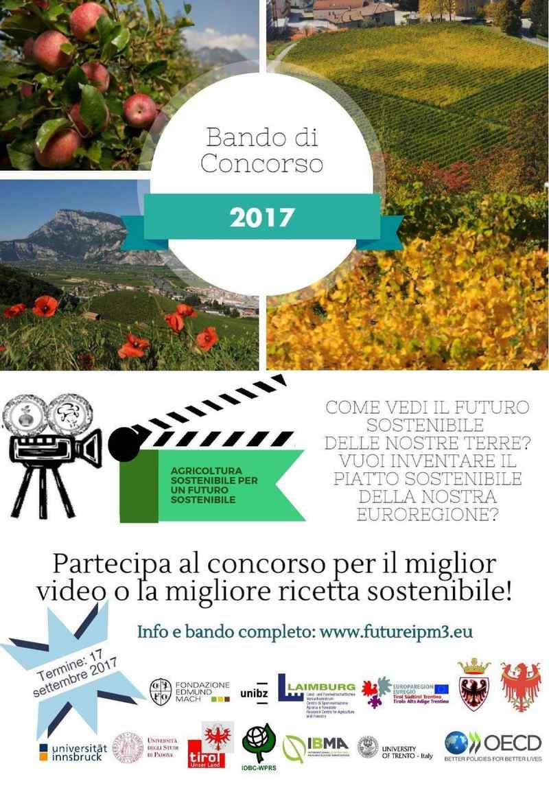 locandina concorso agricoltura sostenibile per un futuro sostenibile