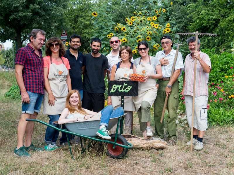 i volontari del giardino condiviso e orto la chiocciola di rho