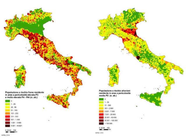 mappa dei rischi naturali