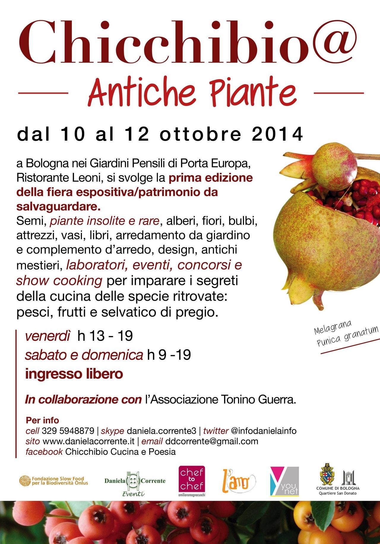 Chicchibio Antiche piante e specie ritrovate a Bologna