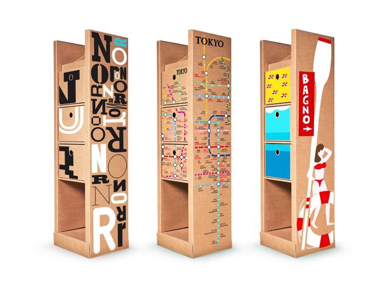 Raccolta differenziata: mobili contenitori nelle strutture turistiche