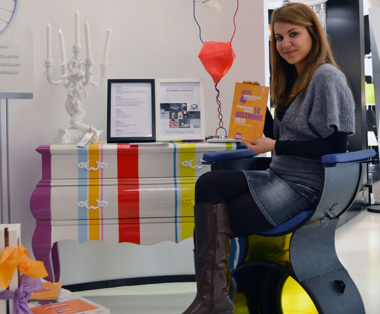 Riciclo creativo: Miss Savonarola, la sedia ricavata da una lavatrice