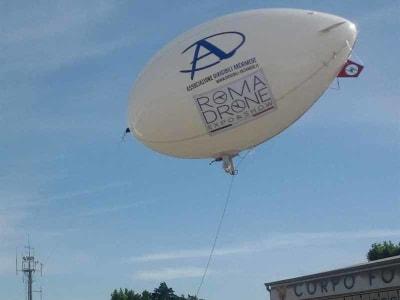 droni gonfiabili alla rome drone conference