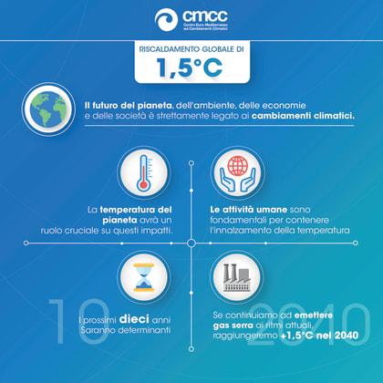 infografica - limitare il riscaldamento globale - effetti