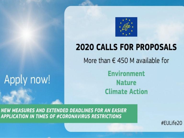 Ultimi fondi europei Life 2020 per salvare l'Ambiente e il Clima!