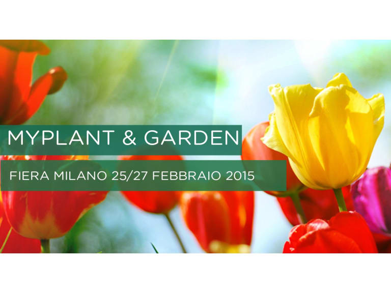 I professionisti del settore green si incontrano a MyPlant & Garden