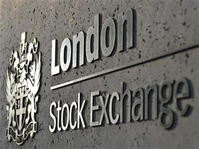 The London Stock Exchange is seen during the morning rush hour in the City of London
