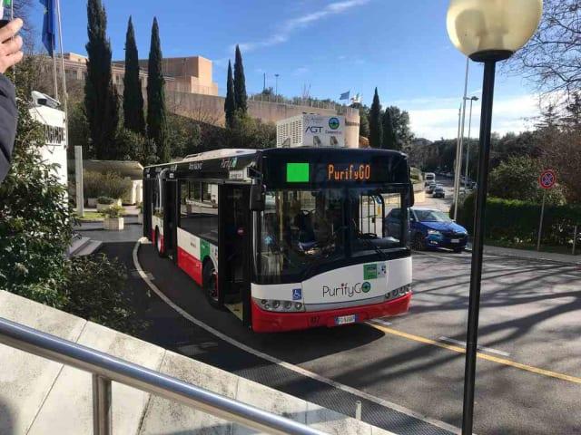 purifygo - autobus mangia smog