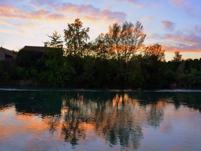 tramonto sul mincio
