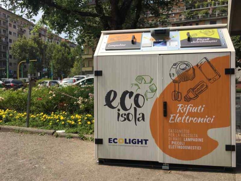 Le ecoisole di Milano raddoppiano: 4 nuovi cassonetti intelligenti per la raccolta Raee