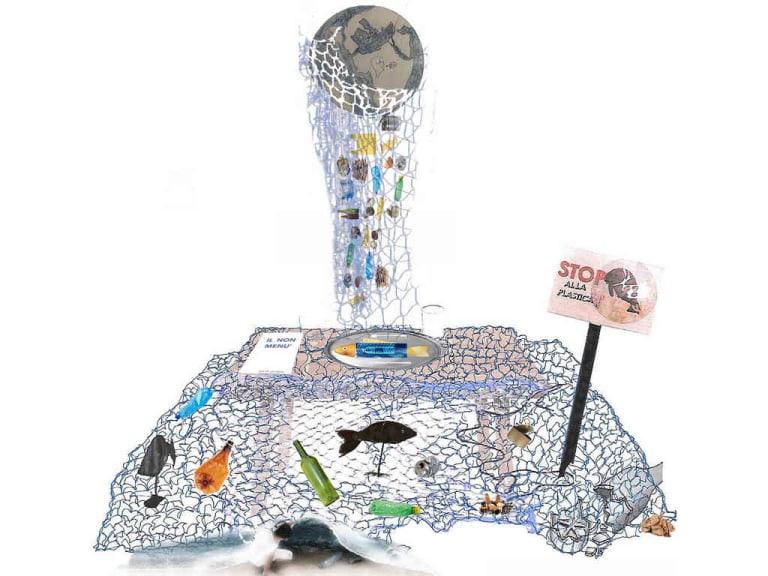 Gli urli nelle opere di Sea Art degli studenti