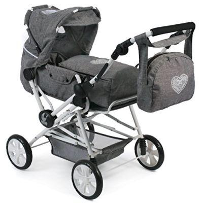 Bayer CHIC 200056276Super Passeggino per Bambole Combinato Road Star per Grandi Bambini, Jeans, Grigio
