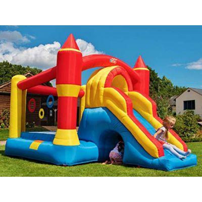 BeBoP Ultimate Combo Large Castello gonfiabile e scivolo del giardino dei bambini