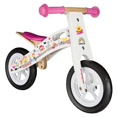 BIKESTAR Bicicletta senza pedali in legno 2-3 anni per bambino et bambina ★ Bici senza pedali bambini 10 pollici ★ Bianco