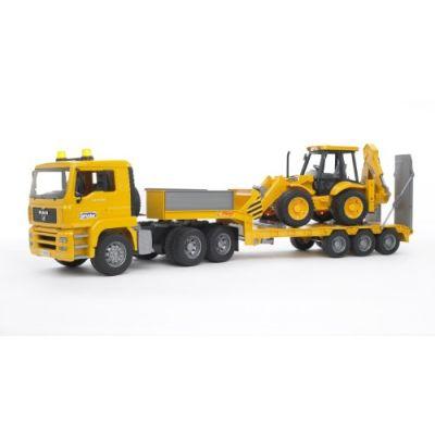 Bruder 02776 - Camion MAN TGA Bilico con Scavatore JCB 4CX Backhoe