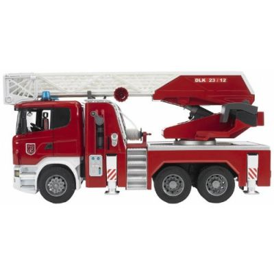 Bruder 03590 - Camion Pompieri Scania R Serie S Autopompa Luci/Suoni