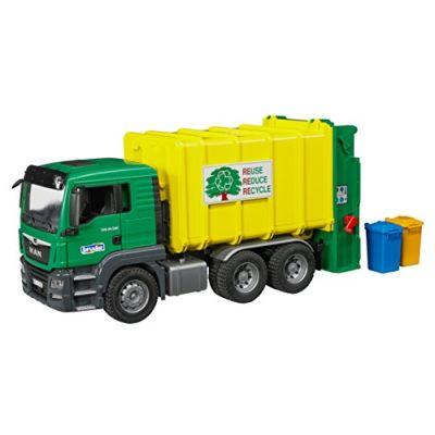 Bruder Spielwaren Camion Rifiuti Verde Man Tgs