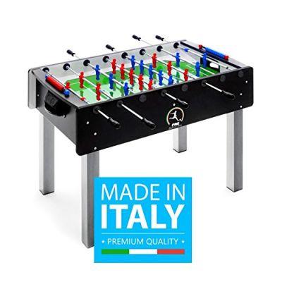 Calciobalilla FAS PRO ITALY NERO Aste Rientranti + Palline + SPRAY LUBRIFICANTE - ESCLUSIVA ITALIA - NOVITA'