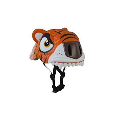 Crazy Safety The Fierce Tiger, Casco Unisex Bambini, Arancione, S